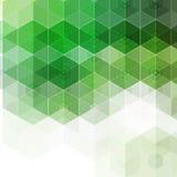 αφηρημένη ανασκόπηση Πράσινα πολύγωνα hexagons - Vektorgrafik 10 eps διανυσματική απεικόνιση