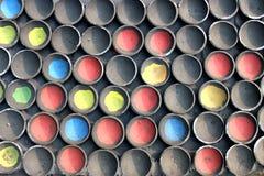 Αφηρημένη ανασκόπηση προτύπων Διαφορετικό λασπώδες δοχείο χρώματος Στοκ Εικόνες