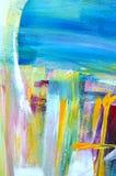 αφηρημένη ανασκόπηση τέχνης χέρι ανασκόπησης που χρωμ&alp Ακρυλική εικόνα Στοκ Εικόνες