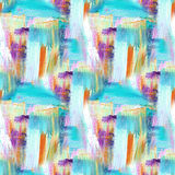 αφηρημένη ανασκόπηση τέχνης χέρι ανασκόπησης που χρωμ&alp Ακρυλική εικόνα πρότυπο άνευ ραφής Στοκ Εικόνες
