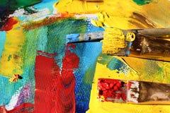 αφηρημένη ανασκόπηση τέχνης χέρι ανασκόπησης που χρωμ&alp Στοκ Εικόνες
