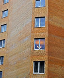 αφηρημένη ανασκόπηση Τεμάχιο του τουβλότοιχος να ενσωματώσει την παραμονή Στοκ Φωτογραφία