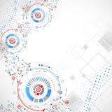 αφηρημένη ανασκόπηση τεχνο& επίσης corel σύρετε το διάνυσμα απεικόνισης Στοκ φωτογραφία με δικαίωμα ελεύθερης χρήσης