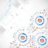 αφηρημένη ανασκόπηση τεχνο& επίσης corel σύρετε το διάνυσμα απεικόνισης Στοκ φωτογραφίες με δικαίωμα ελεύθερης χρήσης