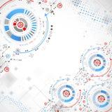 αφηρημένη ανασκόπηση τεχνο& επίσης corel σύρετε το διάνυσμα απεικόνισης Στοκ Φωτογραφία