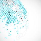 αφηρημένη ανασκόπηση τεχνο& επίσης corel σύρετε το διάνυσμα απεικόνισης Στοκ Εικόνα