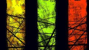 αφηρημένη ανασκόπηση τρία χρωματισμένα λωρίδες φιλμ μικρού μήκους