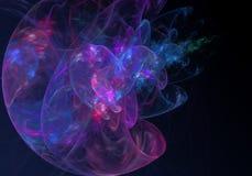 αφηρημένη ανασκόπηση Ψηφιακό κολάζ με fractals Στοκ Εικόνες