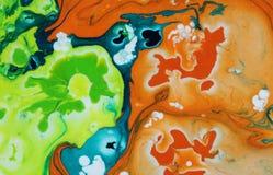 αφηρημένη ανασκόπηση όπως η ανασκόπηση είναι μπορεί να δώσει όψη μαρμάρου στη σύσταση χρησιμοποιούμενη Ακρυλικά χρώματα Στοκ Εικόνες