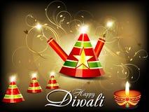 Αφηρημένη ανασκόπηση diwali με την κροτίδα