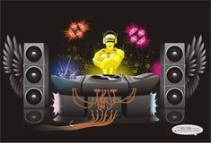 Αφηρημένη ανασκόπηση DJ μουσικής rodot διανυσματική απεικόνιση