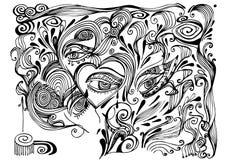 αφηρημένη ανασκόπηση floral Στοκ Εικόνα