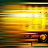 Αφηρημένη ανασκόπηση grunge με το αναδρομικό ραδιόφωνο Στοκ Εικόνα