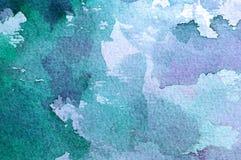 Αφηρημένη ανασκόπηση watercolor Στοκ Φωτογραφία