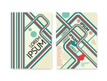 Αφηρημένη αναδρομική αφίσα γραμμών Στοκ Φωτογραφίες