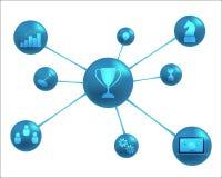 Αφηρημένη αντιπροσώπευση στοιχείων επιχειρησιακής επιτυχίας απεικόνιση αποθεμάτων