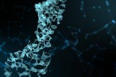 Αφηρημένη αντιπροσώπευση του ψηφιακού δυαδικού DNA ελίκων πλεγμάτων molec διανυσματική απεικόνιση