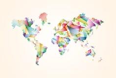 Αφηρημένη απεικόνιση έννοιας παγκόσμιων χαρτών τριγώνων Στοκ εικόνες με δικαίωμα ελεύθερης χρήσης