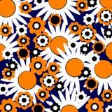 αφηρημένη απεικόνιση λουλουδιών διανυσματική απεικόνιση