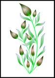 αφηρημένη απεικόνιση λουλουδιών καρτών κ Στοκ φωτογραφίες με δικαίωμα ελεύθερης χρήσης