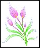αφηρημένη απεικόνιση λουλουδιών καρτών κ Στοκ εικόνα με δικαίωμα ελεύθερης χρήσης