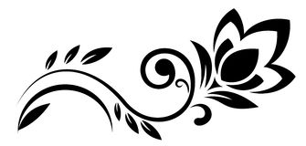 Αφηρημένη απεικόνιση λουλουδιών φαντασίας διανυσματική απεικόνιση