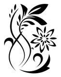 Αφηρημένη απεικόνιση λουλουδιών φαντασίας ελεύθερη απεικόνιση δικαιώματος