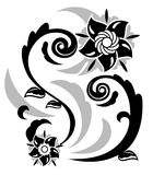 Αφηρημένη απεικόνιση 3 λουλουδιών φαντασίας διανυσματική απεικόνιση