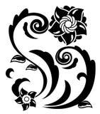 Αφηρημένη απεικόνιση 4 λουλουδιών φαντασίας ελεύθερη απεικόνιση δικαιώματος