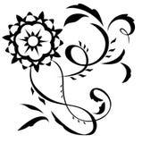 Αφηρημένη απεικόνιση 6 λουλουδιών φαντασίας απεικόνιση αποθεμάτων