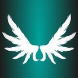 Αφηρημένη απεικόνιση στοιχείων επιχειρησιακών διανυσματική λογότυπων φτερών εγγράφου αγγέλου Στοκ Εικόνα