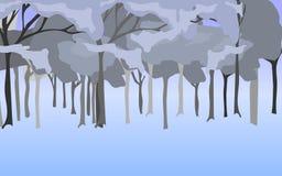 Αφηρημένη απεικόνιση της μπλε γκρίζας δασώδους περιοχής Στοκ Εικόνες