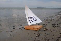 Αφηρημένη απεικόνιση της προώθησης νέων τροφίμων blog Στοκ Φωτογραφία