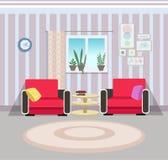 Αφηρημένη απεικόνιση του εσωτερικού ενός δωματίου φιλοξενουμένων Στοκ Εικόνες