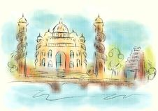 Αφηρημένη απεικόνιση του Ahmedabad Στοκ εικόνες με δικαίωμα ελεύθερης χρήσης