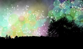 Ξύλο στη μαγική νύχτα