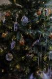Αφηρημένη απεικόνιση υποβάθρου χριστουγεννιάτικων δέντρων Στοκ Εικόνες