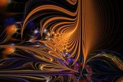 Αφηρημένη απεικόνιση υποβάθρου fractal των πολύχρωμων κυμάτων Στοκ Εικόνες