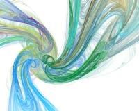 Αφηρημένη απεικόνιση υποβάθρου fractal των πολύχρωμων κυμάτων Στοκ εικόνες με δικαίωμα ελεύθερης χρήσης