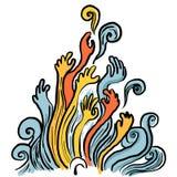 Αφηρημένη απεικόνιση χεριών Στοκ Εικόνες