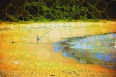 Αφηρημένη απεικόνιση ψαράδων Στοκ εικόνα με δικαίωμα ελεύθερης χρήσης