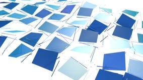 Αφηρημένη απλή μπλε ιώδης χαμηλή πολυ τρισδιάστατη διασπασμένη επιφάνεια ως ενδιαφέρον περιβάλλον Μαλακή γεωμετρική χαμηλή πολυ κ διανυσματική απεικόνιση