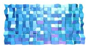 Αφηρημένη απλή μπλε ιώδης χαμηλή πολυ τρισδιάστατη επιφάνεια ως ζωηρό περιβάλλον Μαλακό γεωμετρικό χαμηλό πολυ υπόβαθρο κινήσεων διανυσματική απεικόνιση