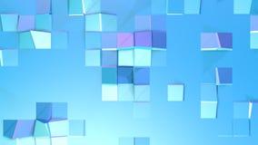 Αφηρημένη απλή μπλε ιώδης χαμηλή πολυ τρισδιάστατη επιφάνεια ως περιβάλλον υπολογιστών Μαλακό γεωμετρικό χαμηλό πολυ υπόβαθρο κιν απεικόνιση αποθεμάτων