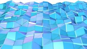 Αφηρημένη απλή μπλε ιώδης χαμηλή πολυ τρισδιάστατη επιφάνεια ως περιβάλλον Μαλακό γεωμετρικό χαμηλό πολυ υπόβαθρο κινήσεων της με διανυσματική απεικόνιση