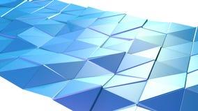 Αφηρημένη απλή μπλε ιώδης χαμηλή πολυ τρισδιάστατη επιφάνεια ως δημοφιλές περιβάλλον Μαλακό γεωμετρικό χαμηλό πολυ υπόβαθρο κινήσ απεικόνιση αποθεμάτων