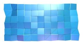 Αφηρημένη απλή μπλε ιώδης χαμηλή πολυ τρισδιάστατη επιφάνεια ως περιβάλλον φαντασίας Μαλακό γεωμετρικό χαμηλό πολυ υπόβαθρο κινήσ ελεύθερη απεικόνιση δικαιώματος