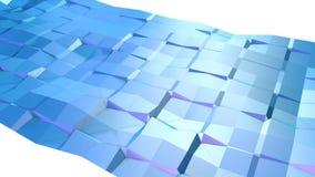 Αφηρημένη απλή μπλε ιώδης χαμηλή πολυ τρισδιάστατη επιφάνεια όπως περιβάλλον Μαλακό γεωμετρικό χαμηλό πολυ υπόβαθρο κινήσεων ελεύθερη απεικόνιση δικαιώματος
