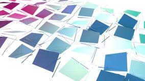 Αφηρημένη απλή μπλε ρόδινη χαμηλή πολυ τρισδιάστατη διασπασμένη επιφάνεια ως περιβάλλον μόδας Μαλακό γεωμετρικό χαμηλό πολυ υπόβα ελεύθερη απεικόνιση δικαιώματος
