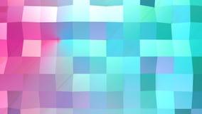 Αφηρημένη απλή μπλε ρόδινη χαμηλή πολυ τρισδιάστατη επιφάνεια ως ζωηρό περιβάλλον Μαλακό γεωμετρικό χαμηλό πολυ υπόβαθρο κινήσεων ελεύθερη απεικόνιση δικαιώματος